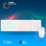 KEYBOARD/MOUSE NGS WIRED [SPRITE KIT WHITE] USB, RGB LED